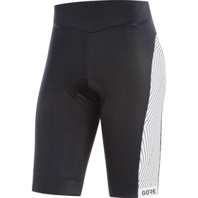GORE WEAR C3 Optiline fietsbroek kort Dames wit/zwart